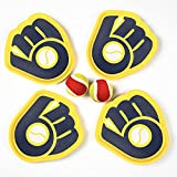 QUI-LO Catch Ball Supreme Velcro Ball and Catch Game, Toss and Catch Ball Set, 4 Paddles 2 Balls and Storage Bag, Outdoor Games for Kids, Beach Games for Kids, Ball Games Gift