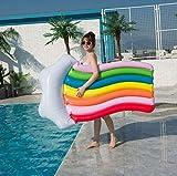 Queta Hamaca Flotante para Piscina, Colchoneta Hinchable Piscina, Flotador de Tumbona Inflable del Agua, Flotante Colchoneta para Partido Piscina Playa para Adultos