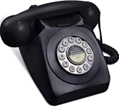 $35 » Rotary Phone for Landline, IRISVO Retro Design Corded Landline Telephones Old Fashion Phones for Home with Push Button Tec...