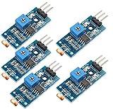DollaTek Fotoresistenza 5Pcs Modulo sensore di intensità della Luce Digitale Fotoresistenza per Arduino Uno