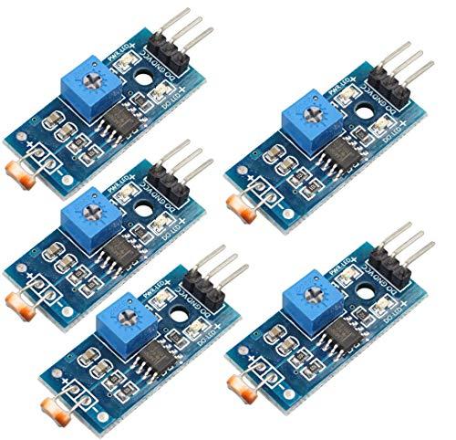 DollaTek 5Pcs Módulo de Sensor de Intensidad de Luz Digital Photo Resistor Fotoresistor para Arduino UNO