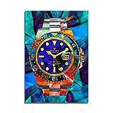 Mode Leinwand Malerei Kunst Rolex Uhren Pop Art Leinwand Hd