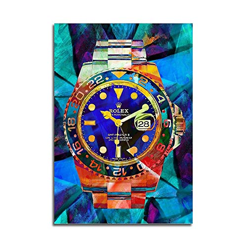Mode Leinwand Malerei Kunst Rolex Uhren Pop Art Leinwand Hd Moderne Abstrakte Kunst Drucken Poster Büro Schlafzimmer Wand Cafe Dekoration 60 * 90cm