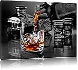 Alter guter Whiskey Format: 100x70 auf Leinwand, XXL
