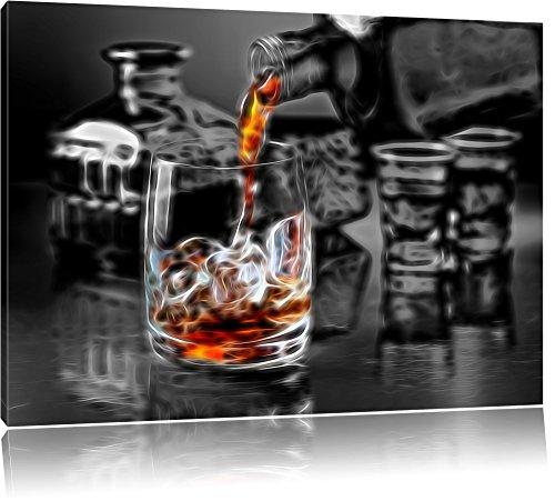 Alter guter Whiskey Format: 80x60 auf Leinwand, XXL riesige Bilder fertig gerahmt mit Keilrahmen, Kunstdruck auf Wandbild mit Rahmen, günstiger als Gemälde oder Ölbild, kein Poster oder Plakat
