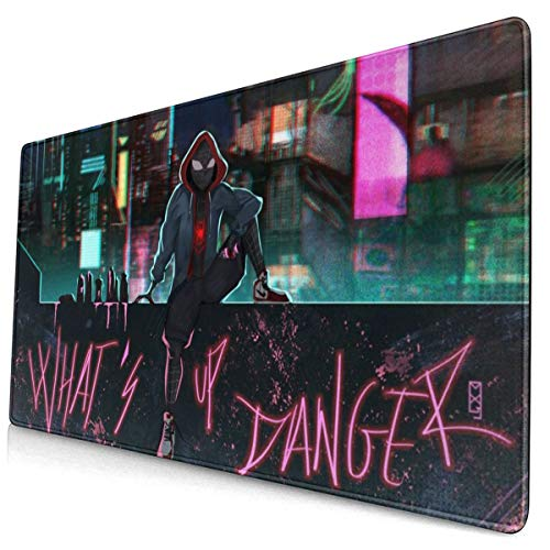 Large Gaming Mouse Pad SPI_der-Man Into The Spid_er-Ve-RSE Mousepad Non-Slip Rubber Funny Mouse Mat Rectangle Mouse Pads for Computers Laptop 30x15.7 Inch