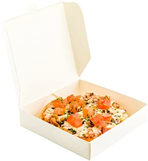 Mini Pizza Box, Mini Square Cardboard Pizza Box, Disposable Pizza Box - White - 3.5