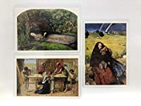 ジョン・エヴァレット ・ミレー ポストカード 3枚セット ラミネート加工 ホビー おもちゃ グッズ 名画 しおり インテリア コレクション 雑貨 オフィーリア 両親の家のキリスト 盲目の少女