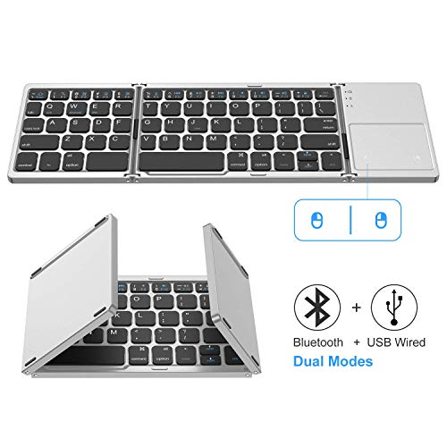 Jelly Comb Ultra Slim Ergonomic Foldable Rechargeable Pocket Sized Mini BT Wireless Keyboard