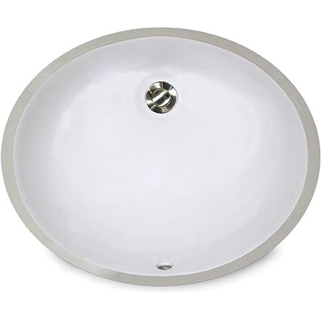 Nantucket Sinks Um 15x12 W 15 Inch By 12 Inch Oval Ceramic Undermount Vanity Sink White Amazon Com