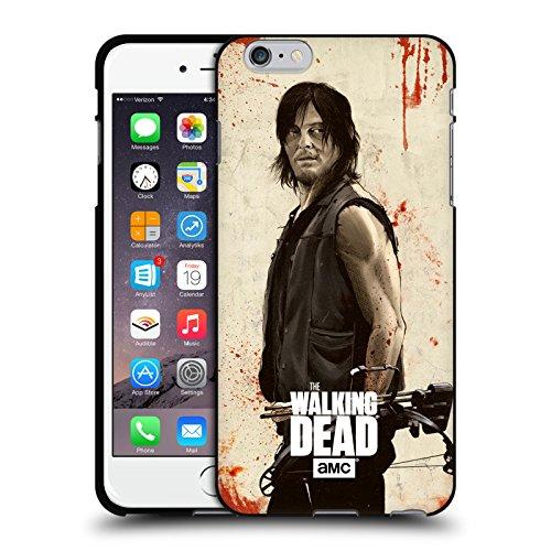 Head Case Designs Oficial AMC The Walking Dead Daryl Angustiado Ilustraciones Funda de Gel Negro Compatible con Apple iPhone 6 Plus/iPhone 6s Plus