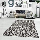 Teppich Baumwolle - Grau Schwarz 150x230 cm Ethno-Stil - Teppiche Modern Wohnzimmer