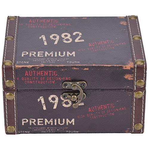 Pulido de superficie lisa, tamaño grande, madera, protección del medio ambiente, caja de almacenamiento, para almacenar libros para pendientes(Model 2208A-03-1982, blue)