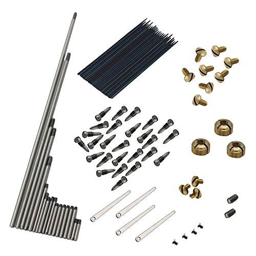 Liseng - Juego de tornillos de reparación de saxofón alto Sax + conjunto de muelles saxofón herramienta DIY accesorios para instrumento de viento