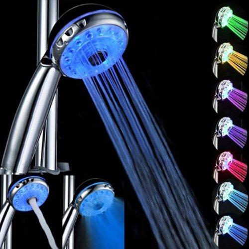 Bluelover Magische Automatische Wasser 7 Farbe LED Licht Duschkopf