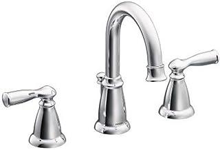 Moen WS84924 Banbury Two-Handle High Arc Bathroom Faucet, Chrome