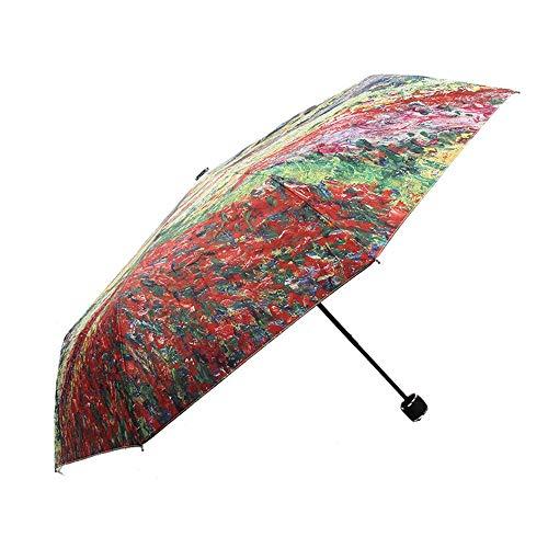Ausgabegeräte 8 Knochen Sonnenschirm UV-Schnitt UPF40 Praktisches Öffnen und Schließen von Regenschirmen bei schönem Wetter Niedlicher Sonnenbrand Leichtgewichtler mit Bezug Sommer-Taschenschirm Regen