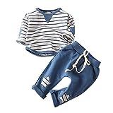 Babykleidung Satz, Ulanda Neugeborenes Baby Mädchen Jungen Langarm T-Shirt Tops + Hosen 2 Stück...