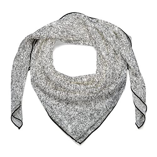 Elegante bufanda de seda cuadrada con purpurina plateada para envolver el pelo, bufanda de noche para dormir, bufanda de cuello de moda para mujer de 68,5 x 68,5 cm