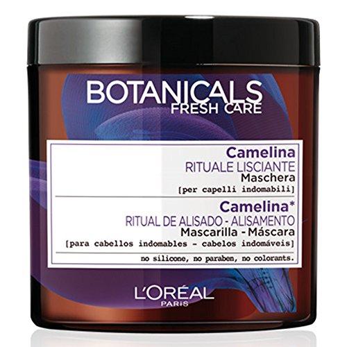 L Oréal Paris Botanicals Camelina Rituale Lisciante Maschera per Capelli Indomabili, senza Siliconi, Parabeni o Coloranti, 200 ml