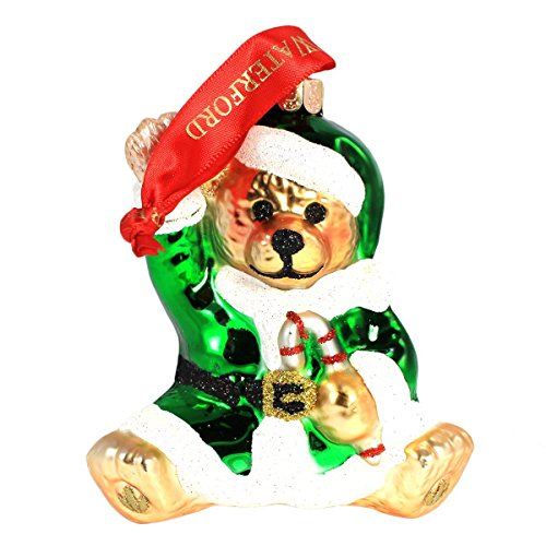 Waterford Teddy Bear Santa Ornament