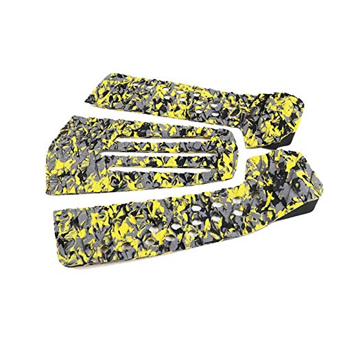 ZSR-haohai Surf Board Traction Pads EVA Anti-slip Tail Pad Short Board Traction Pads For Skimboard (Color : Yellow)