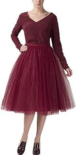 Women's Short A line Skirts Elastic Tulle Costume Dance Tutu