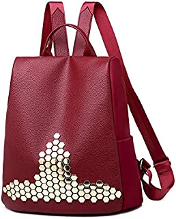 PUGLIFE Anti-theft Backpack Female Fashion Rivet Oxford Cloth Women's Bag Canvas Travel Backpack