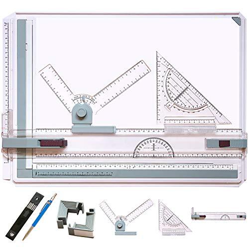 Frylr A3 Métrico Tablero de dibujo Mesa de dibujo, 50 x 36,5cm Multifunción Tablero de dibujo Set