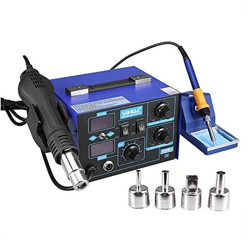 Estacion de soldadura 2 en 1 electronica Kit del Soldador Digital con...