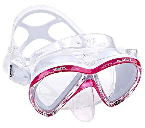 Mares Unisex-Adult Mask X-vu Liquidskin Taucherbrille, Weiß/Rosa, BX
