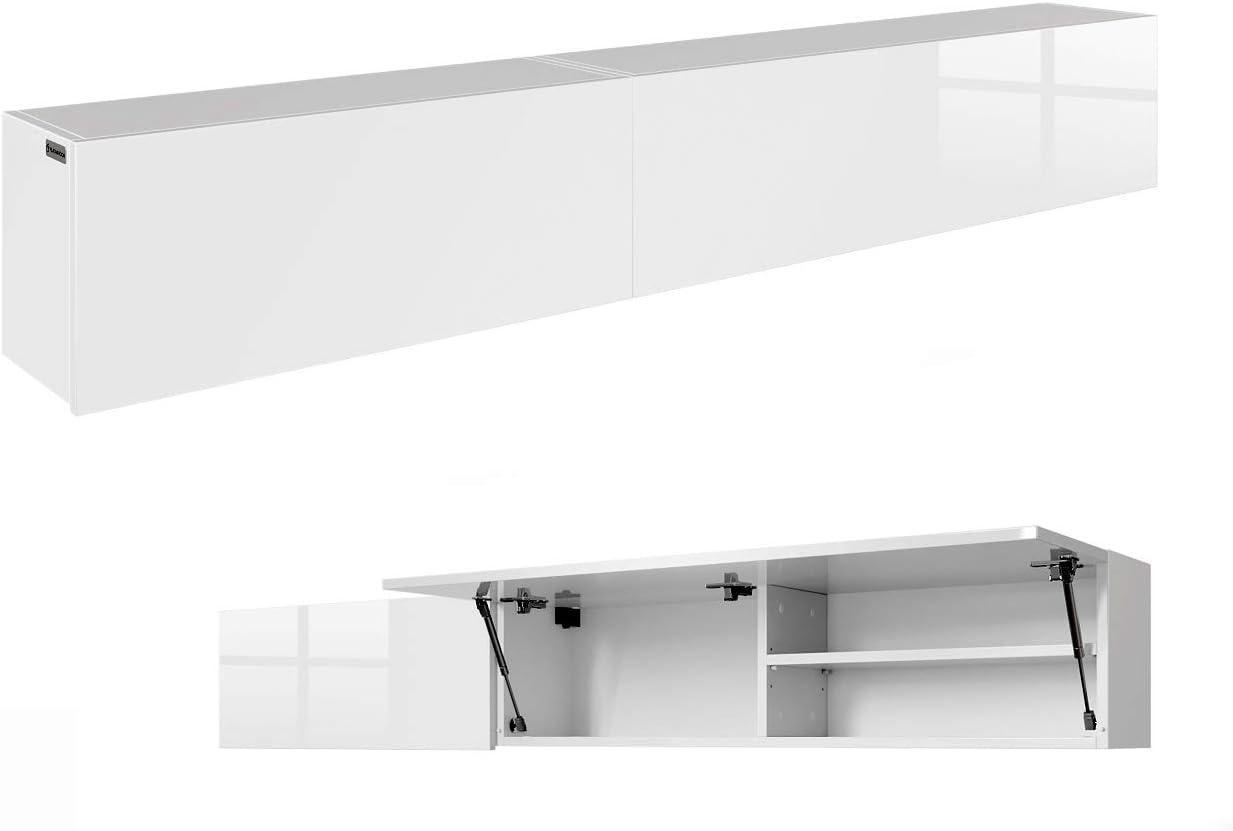 200 cm 120 cm 160 cm 240 cm Armadietto da bagno per bagno Rotrigo 240 cm 80 cm corpo bianco opaco + bianco opaco, 240 x 30 x 25