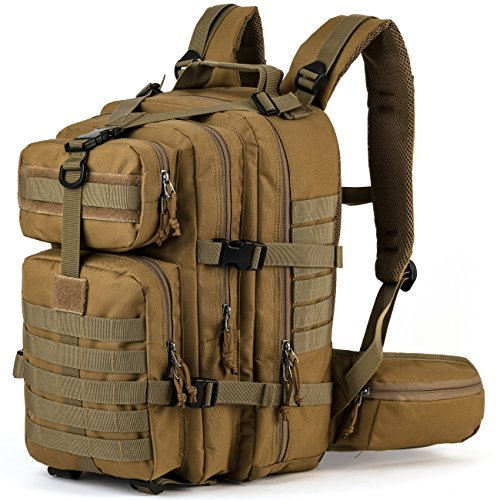 RUPUMPACK Military Tactical Backpack, Army MOLLE Bug Out Bag, 3-Day Rucksack for Outdoor Hiking Camping Trekking Hunting Commuter, 33L
