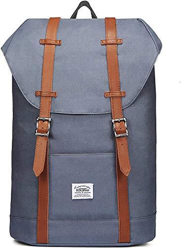 KAUKKO Rucksack Damen Herren Schön und Praktisch Daypack für Schule, Uni, Beruf und Freizeit mit 14' Laptopfach Tasche für den Alltag,18L