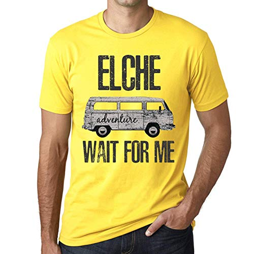 One in the City Hombre Camiseta Vintage T-Shirt Gráfico Elche Wait For Me Amarillo