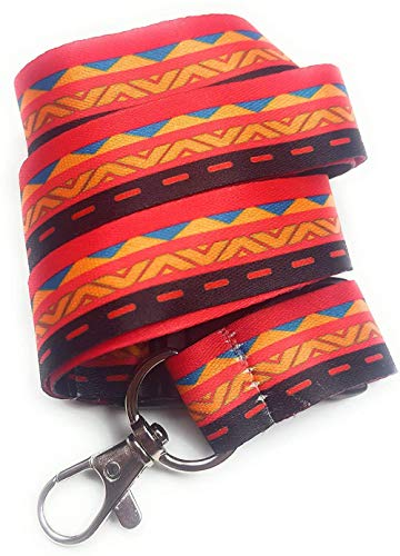Sgualie Breakaway Lanyard Halsband für Telefon, Ausweishalter, Schlüsselhalter Schlüsselbund, ethnisches Afrika