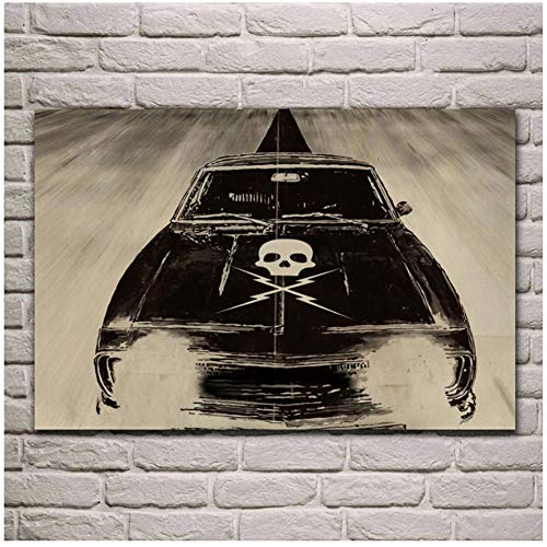 Sjkkad Death Proof Quentin Tarantino Death Proof Tarantino Car Fantasy Living Room Home Wall Art Decor Poster Print en lienzo -20X28 pulgadas sin marco