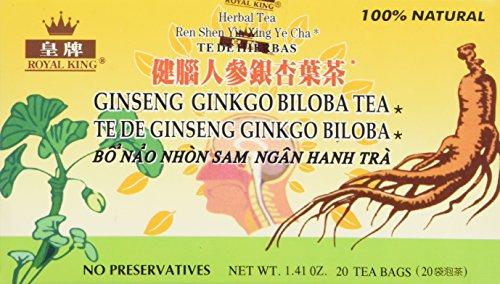 Royal King Ginseng Ginkgo Biloba Tea (20 Bags)