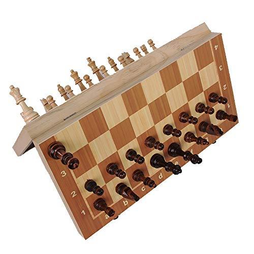 CHUJIAN Neue Qualitäts-24/29 / 34cm Holz International Chess Set Brettspiel Faltbare Falte Brett Verpackung Kind-Geschenk (Farbe : Length 24cm)