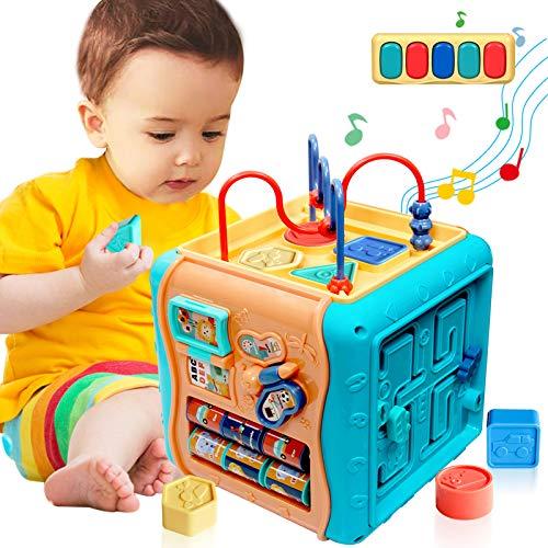 ATCRINICT 6 en 1 Cubo de Actividad multipropósito Juguetes de bebé para 12-18 Meses Juguetes de Regalo para niños y niñas de 12 3 años y niños pequeños