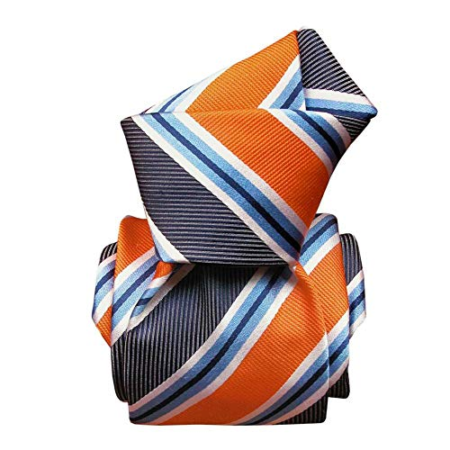 Segni et Disegni - Cravate Segni Disegni Luxe, Faite Main, Castellazzo, Orange