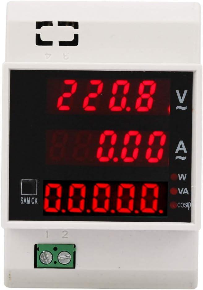 AC80-300//100A Compteur d/énergie num/érique LED actif multifonction compteur de puissance