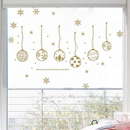 ZHAOWM Etiqueta de la pared de navidad Navidad Copo De Nieve Decoraciones...