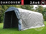 Dancover Tenda Magazzino Tenda Garage PRO 2,4x6x2,34m PE, Grigio...