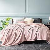 Bedsure Manta Cama 150 Invierno - Manta Sofa Extra Grande de Franela Suave, Mantas 220x240 cm para Cama 135, Rosado