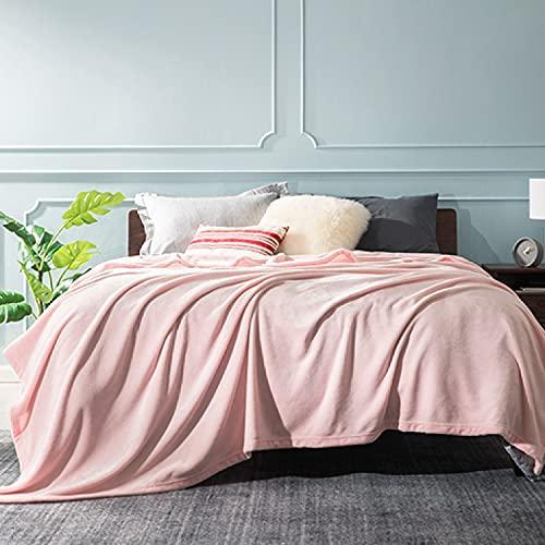 BEDSURE Kuscheldecke Hellrosa große Decke Sofa, weiche& warme Fleecedecke als Sofadecke/Couchdecke, kuschel Wohndecken Kuscheldecken, 230x270 cm extra flaushig und plüsch Sofaüberwurf Decke