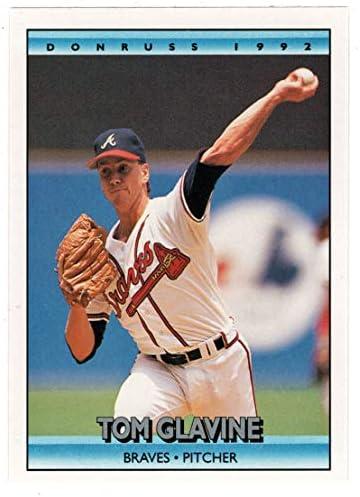 Tom Glavine Baseball Card 1992 Donruss 629 Mint product image