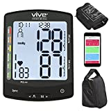Vive Precision Smart Blood Pressure Cuff Monitor - Automatic Upper Arm Digital Machine - Home Use Heart Rate Sensor - Hypertension Diagnosis - Accurate Pulse Reading - BPM Gauge Kit - Phone Monitoring