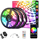 Onforu 49.2ft Smart WiFi LED Light Strip,15m RGB Light Strip Works with Alexa, Google Assistant, 450 LEDs 5050 Dimmable Color Changing LED Strip Light by App Control, 24V Music Synchronize Rope Lights