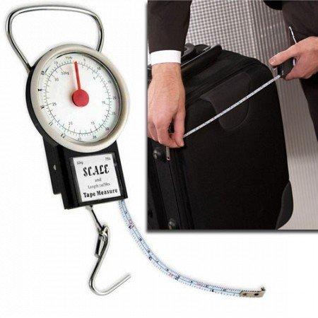 Guilty Gadgets - equipaje báscula para equipaje maletas pesque con cinta métrica 32 kg